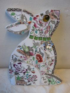 Mosaic Rabbit in china £15.00