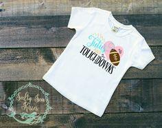 Tutu's and Football Girl's T-Shirt- Girl's Football Shirt- Girl's Super Bowl Shirt by SaltySeaKisses on Etsy