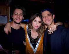 Dylan, Shelley & Tyler at Shelley's 16th TEEN WOLF