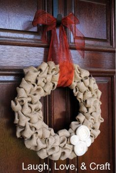Google Image Result for http://thefrugalgirls.com/wp-content/uploads/2011/10/DIY-Pretty-Burlap-Wreath.jpg