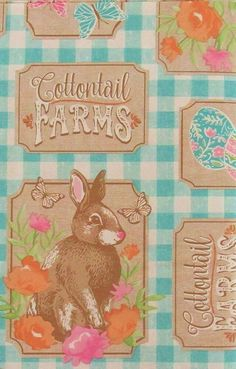 EASTER TABLECLOTH~Vinyl~Flannel Back~52x70 Oblong~Bunny eggs chicks baskets New