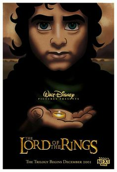Disneyfied Lord of the rings alternative movie poster