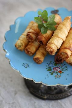Sigara borek, also good without the beef and with just Turkish feta and parsley