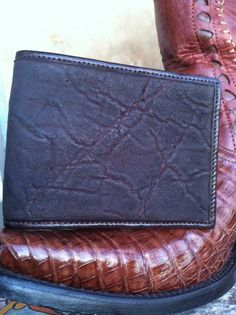 Rugged Tough Elephant Hide Leather Wallet