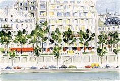 Dessin : Paris frais et léger avec Dominique Corbasson