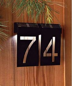 Creative House Number Ideas The Importance of House Numbers Creative House Number Ideas. House numbers are so important and yet they are completely overlooked. Door Numbers, House Number Plates, Solar House Numbers, Address Numbers, Address Plaque, Ideias Diy, Porch Lighting, Signage Design, Plate Design