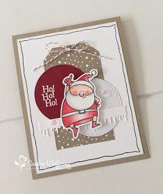 Vandaag weer een kaartje gemaakt met materialen uit de Mix 'n Up kit Ik heb SU dsp en cardstock gemixt met de geinige kerstman...