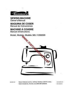 Kenmore 158.1303 Sewing Machine Instruction Manual