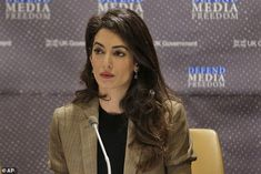 Amal Clooney Decries 'Legal Assault on Journalists' in Powerful United Nations Speech, New York, Amal Clooney, Human Rights Lawyer, United Nations General Assembly, Hollywood Actor, Role Models, The Unit, Beauty, Mail Online, Daily Mail