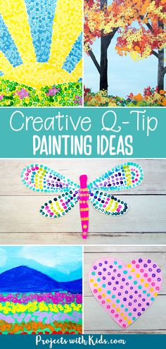 Q Tip Painting, Painting For Kids, Art For Kids, Clay Art Projects, Craft Projects For Kids, Kids Crafts, Preschool Arts And Crafts, Fun Arts And Crafts, Painting Activities