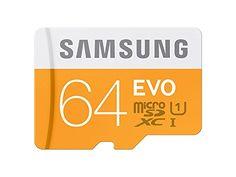 Chollo Samsung EVO MicroSD de 64GB Clase 10 por sólo 22.90€