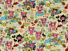 CAC0019- 100% Cotton Fabric: All-Over Hawaiian Print Fabric