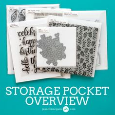 All of Jennifer McGuire's tips and tricks for easy stamp and die storage on her blog! Check out the full video for all the details!