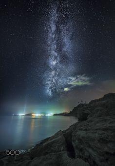 The galaxy show, milky way in Rhodes, by panagiotis laoudikos..