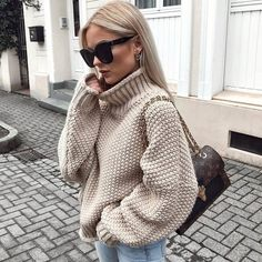 Love this #nude sweater #fashion #style #clothing #outfit #followback #follow