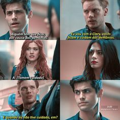 Shadowhunters Frases, Shadowhunters The Mortal Instruments, Cassandra Clare, Clary Y Jace, The Mikaelsons, Matthew Daddario, Clace, Angel And Devil, Icarly