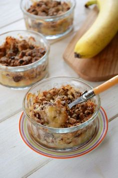 Crumble banane chocolat - dessert facile et gourmand