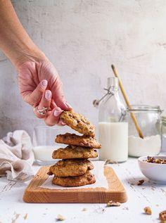 Glass Of Milk, Cereal, Food And Drink, Cookies, Drinks, Breakfast, Paleo, Foods, Crack Crackers