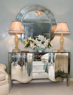 MIRRORED BUFFET | Mirrored furniture items are wonderful decorating ideas that create bright and spacious interior design | Mirrored Cabinet | Metal Cabinet | Modern Cabinet | Bedroom Cabinet | For more inspirational ideas take a look at: www.bocadolobo.com