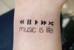 Imagem de music, tattoo, and life