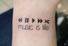 Imagem de music, tattoo, and life