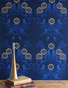 Squid, octopus, and jellyfish wallpaper by Grow House Grow.  I want this on fabric.