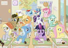 High school ponies! by ElenaFreckle.deviantart.com
