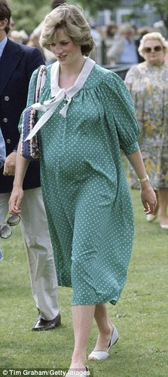Princess Diana At Polo, just two weeks before the birth of her first child, Prince William.