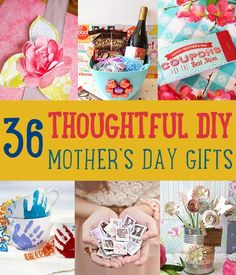 Need homemade Mother's Day gifts and ideas? If you can't decide what gift to give Mom this year, these ideas will make her feel special on Mother's Day!