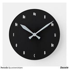 Shop Periodic Round Clock created by univercitizen. Period, Clock, Display, Artwork, Prints, Clocks, Watch, Floor Space, Work Of Art