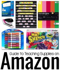 Like most teachers, I LOVE Teacher Supplies. But over the years I have figured out that there are some supplies that I just would rather buy on Amazon!