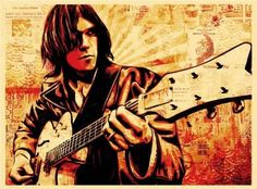 Neil Young Canvas Print - Obey Giant