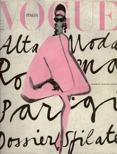 Love these loosely hand-drawn letters and the simplicity of this print. Beautiful and feminine! Vogue