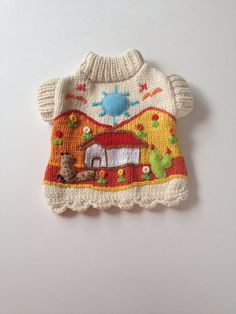 Adorable XXS dog sweater 100 cotton by thespecialdetails on Etsy