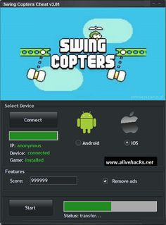 Swing Copters Hack Cheat Tool Hello, I want to introduce you Cheats for Swing Copters. Swing Copters Hack Tool is another program that will empower you to Online Tests, Cheat Online, Online Games, Connect Games, Ios Features, New Mods, Antivirus Software, You Cheated, Scores
