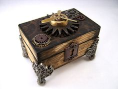 Steampunk Trinket Box with Working Propeller by EyeFullProductions, $70.00
