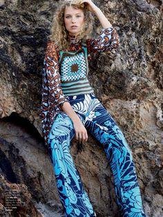 Heloise Guerin by Patrick Demarchelier for Vogue Brazil February 2015 - Miu Miu Resort 2015