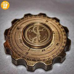 YCCY Compass Hand Spinner Brass Fidget Spinner with Ceramic Bearings - Fidget spinner (*Partner-Link)