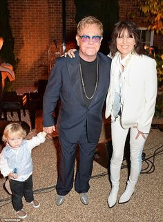 ~Elton John and husband David Furnish are the happy parents of two beautiful boys. Description from starkiddo.com. I searched for this on bing.com/images
