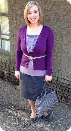Purple, Gray & Snakeskin. Modern Modesty