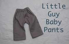 and the little guy baby pants!  too sweet and easier than they look