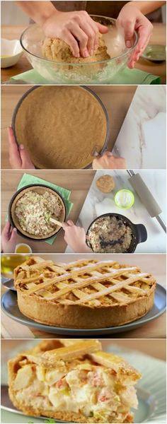 Receita da Torta de Palmito mais fácil e mais gostosa que eu já vi! #torta #palmito #tortadepalmito