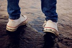 I want a pair of plain white or black Converse.