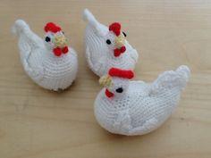 Thread Crochet, Hand Crochet, Free Crochet, Knit Crochet, Crochet Animals, Crochet Toys, Crochet Chicken, Easter Crochet, Crochet Patterns