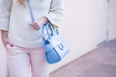 Baby Blue Statement Handbag