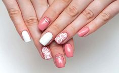 Your nails should look great in your wedding day. There are a lot of wedding nail ideas to beautify your nails. Here are 20 best wedding nail designs for bride. Nail Art Designs, Bridal Nails Designs, Bridal Nail Art, Wedding Nails Design, White Gel Nails, Pink Nail Art, Pastel Nails, Gel Nagel Design, Latest Nail Art