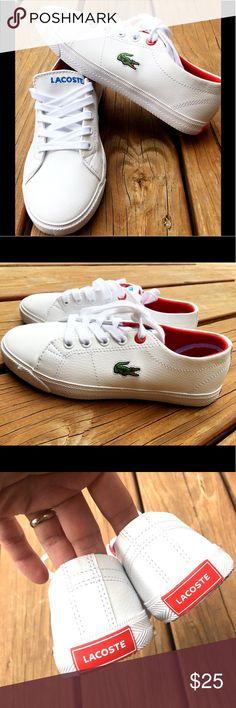 e4acda18c Lacoste Kids Sneakers Lacoste kids sneakers. Never worn. White. Lacoste  Shoes Sneakers Lacoste