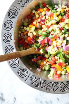 Martha Stewart's Chopped Vegetable Salad. The best mix of fresh veggies. Perfect for spring and summer parties!