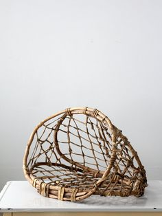 antique fishing basket / native basket by IronCharlie on Etsy, $475.00
