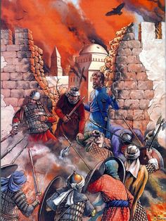 La Pintura y la Guerra. Sursumkorda in memoriam Historical Art, Historical Pictures, Military Art, Military History, Siege Of Constantinople, Byzantine Army, Empire Romain, Medieval World, Early Middle Ages